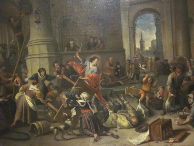 Jan Steen Jezus verwijdert de geldwisselaars