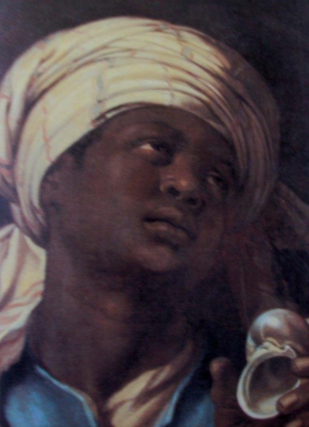 Negerhoofd met tulband van Albert Eckhout